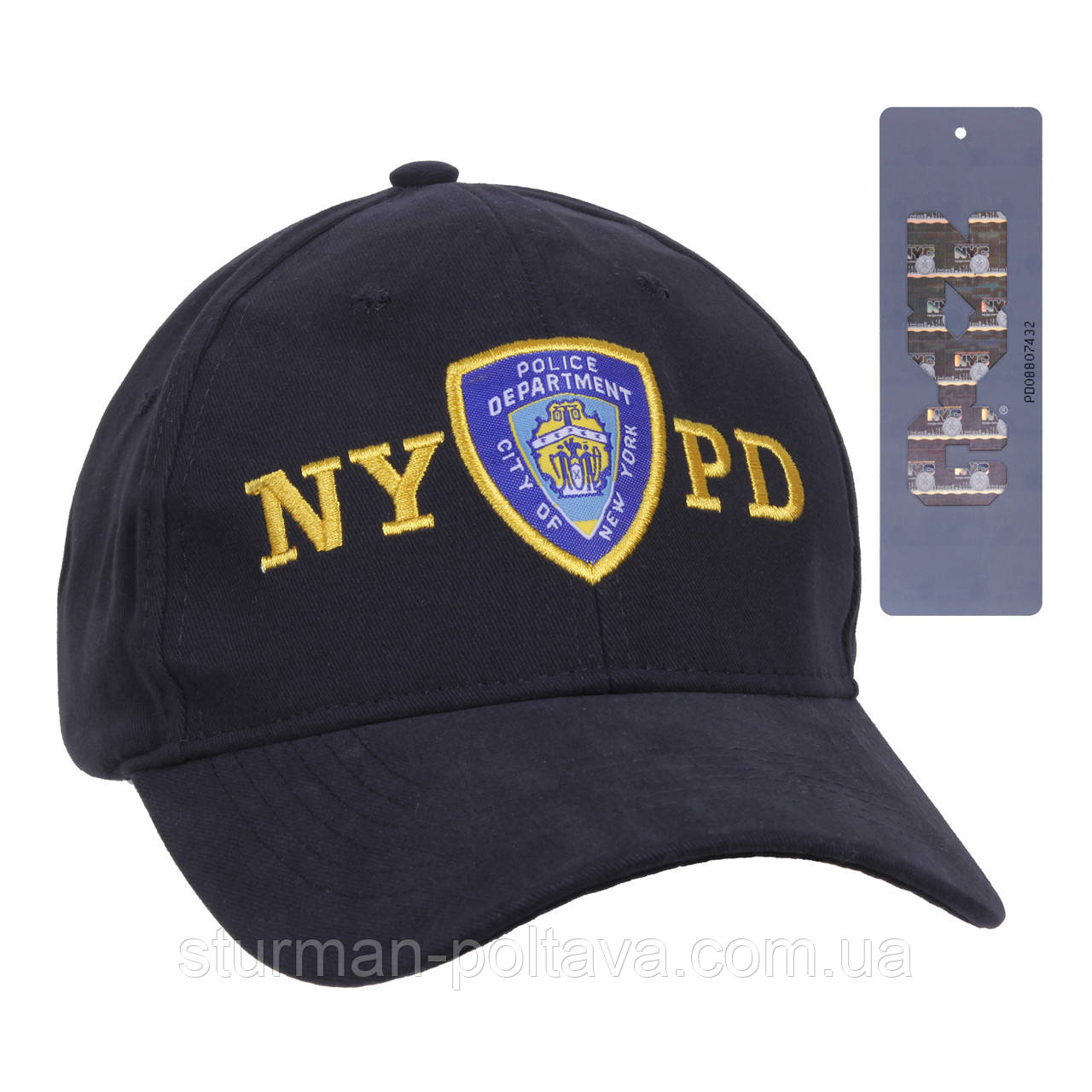 """Бейсболка чоловіча поліція ліцензійна Вишвка """"NYPD"""" з шевроном Rotcho США"""
