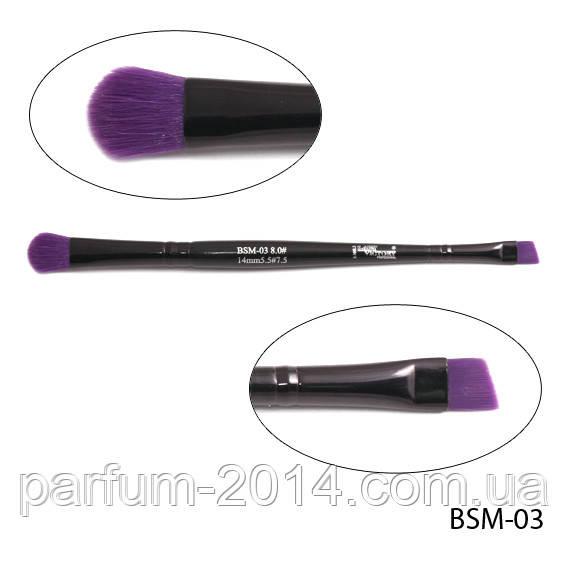 Кисть для макияжа BSM-03 двухсторонняя (нейлон) 8,0х40/5,5х30 mm (#8.#5,5)  Lady Victory