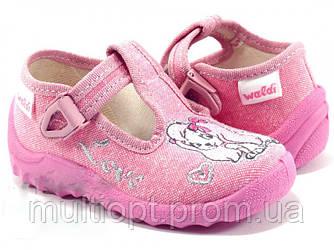 Тапочки детские оптом 25,26,27 розовая собачка.
