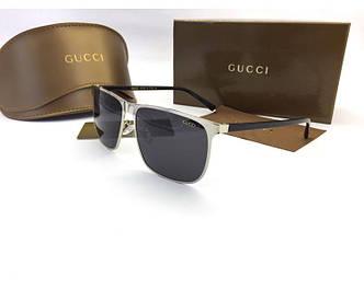 Солнцезащитные очки Gucci (0821) silver SR-816