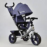 Велосипед 3-х колёсный Best Trike Джинс синий арт. 5700 - 3760 (поворотное сиденье, колеса пена)