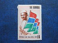 Марка Гамбия 1970 президент флаг MNH