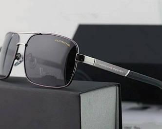 Солнцезащитные очки Porsche Design c поляризацией (p-8766) silver SR-818