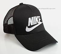 Бейсболка черная с логотипом и надписью Nike