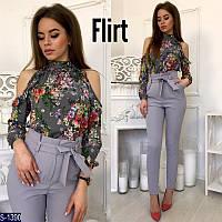 Блуза S-1390 (42-44) — купить Рубашки, блузки оптом и в розницу в одессе 7км
