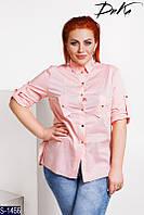 Рубашка S-1466 (42-44, 46-48) — купить Рубашки, блузки оптом и в розницу в одессе 7км
