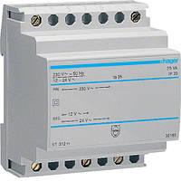 Трансформатор модульний 230В/12-24 В, 25ВА код ST312