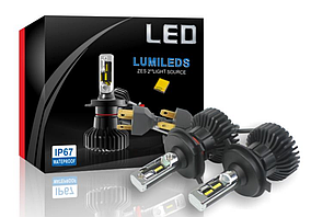 Автолампы LED X5 Philips Luxeon ZES, H4, 6000LM, 6500K, 50W, 9-36V