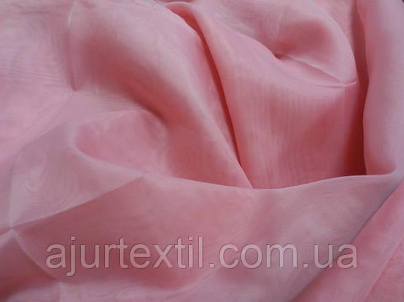 Вуаль однотонный  розовый, фото 2
