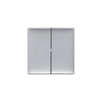 Клавиша выключателя 2-клавишного Valena Life Legrand, цвет алюминий