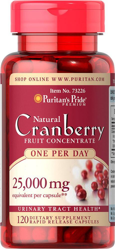 Экстракт клюквы в капсулах, One A Day Cranberry, Puritan's Pride, 120 капсул