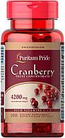 Ягоды клюквы концентрат с витаминами С и Е, Cranberry Fruit Concentrate, Puritan's Pride, 100 капсул, фото 1