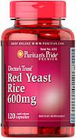 Красный дрожжевой рис, Red Yeast Rice 600 mg Puritan's Pride, 120 капсул