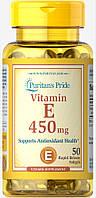 Витамин Е-1000 натуральный Смесь токоферолов, Vitamin E-1000 МЕ, Puritan's Pride, 50 капсул