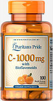 Витамин С-1000 с биофлаваноидами, Vitamin C-1000 mg, Puritan's Pride, 100 капсул