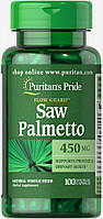 Со Пальметто, Saw Palmetto 450 mg Puritan's Pride, 100 капсул