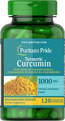 Куркума с куркумином+биоперин, Turmeric Curcumin 1000 mg, Puritan's Pride, 120 капсул