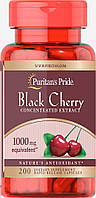 Чёрная вишня, Black Cherry 1000 mg Puritan's Pride, 200 капсул