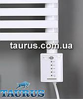 """Белый сенсорный электроТЭН Cini QS white квадратной формы: регулятор + таймер 2ч. (под розетку). Польша, 1/2"""""""