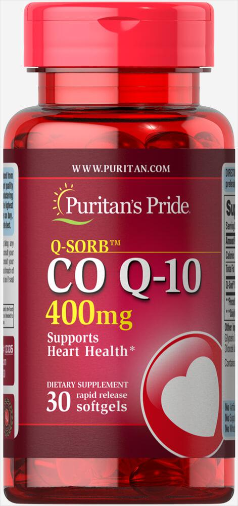 Коэнзим быстрый, Co Q-10 400 mg Puritan's Pride, 30 капсул