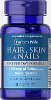 Кожа Волосы Ногти Одна таблетка в День, Hair Skin Nails, Puritan's Pride, 30 капсул