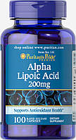 Альфа-липоевая кислота, Alpha Lipoic Acid 200 mg Puritan's Pride, 100 капсул