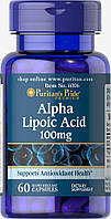 Альфа-липоевая кислота, Alpha Lipoic Acid 100 mg Puritan's Pride, 60 капсул