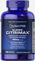 БАД для похудения с Гарцинией, Super Citrimax Garcinia Cambogia Puritan's Pride, 90 капсул