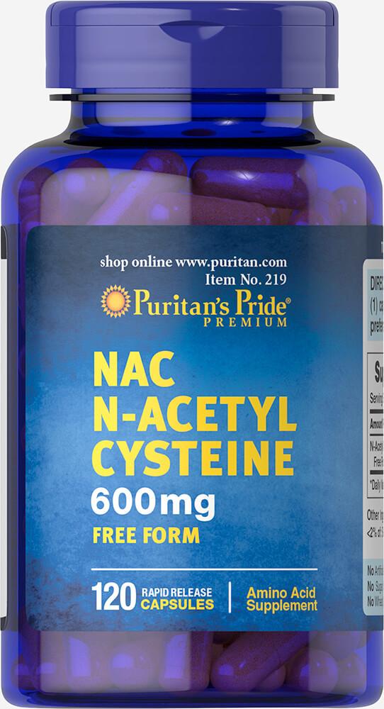 Ацетил-Цистеин, N-Acetyl Cysteine (NAC) 600 mg Puritan's Pride, 120 капсул