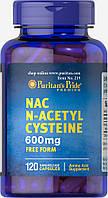 Ацетил-Цистеин, N-Acetyl Cysteine (NAC) 600 mg Puritan's Pride, 120 капсул, фото 1