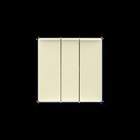 Клавіша вимикача 3-клавішного Valena Life Legrand, колір слонова кістка