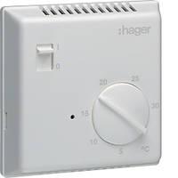 Термостат цифровий, ручне ВКЛ/ВИМК 230В/ 8А, контакт - перемикаємий  код EK003