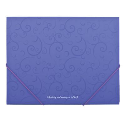 Папка пластиковая на резинке А5 BuroMax Barocco фиолетовая