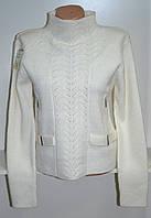 Зимний женский свитер белого цвета, фото 1