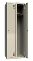 Шкаф одежный металлический 300/2, размеры 1800х600х500мм, 2 секции, гардеробный шкаф в раздевалку МСК2921600