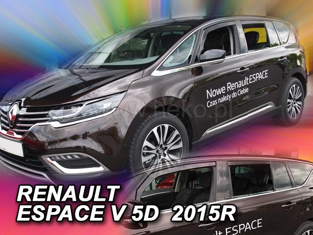 Дефлекторы окон (ветровики)  Renault Espeace 2014 -> 5D 4шт (Heko)