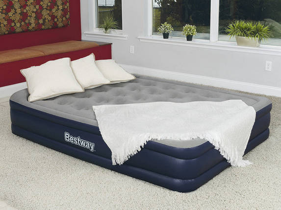 Надувная кровать BestWay 67600 ( 203х152х43 см) - электронасос, фото 2
