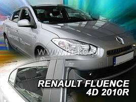 Дефлекторы окон (ветровики)  Renault Fluence 2009 4шт (Heko)