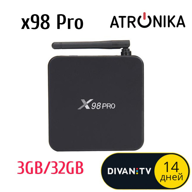 Android TV Box X98 Pro (3/32GB) Android 6 0 + Бонус: Пакет
