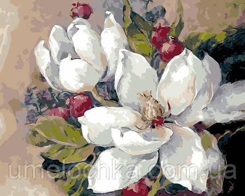 Картина по номерам Белые лотосы (AS0113) 40 х 50 см ArtStory