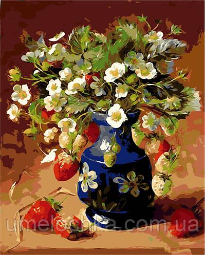 Картина по номерам Клубничный натюрморт (AS0116) 40 х 50 см ArtStory