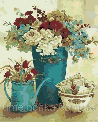 Картина по номерам Винтажные цветы (AS0118) 40 х 50 см ArtStory