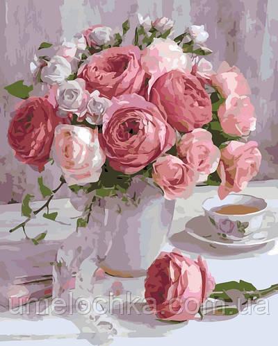 Картина по номерам Розы в пастельных тонах (AS0126) 40 х 50 см ArtStory