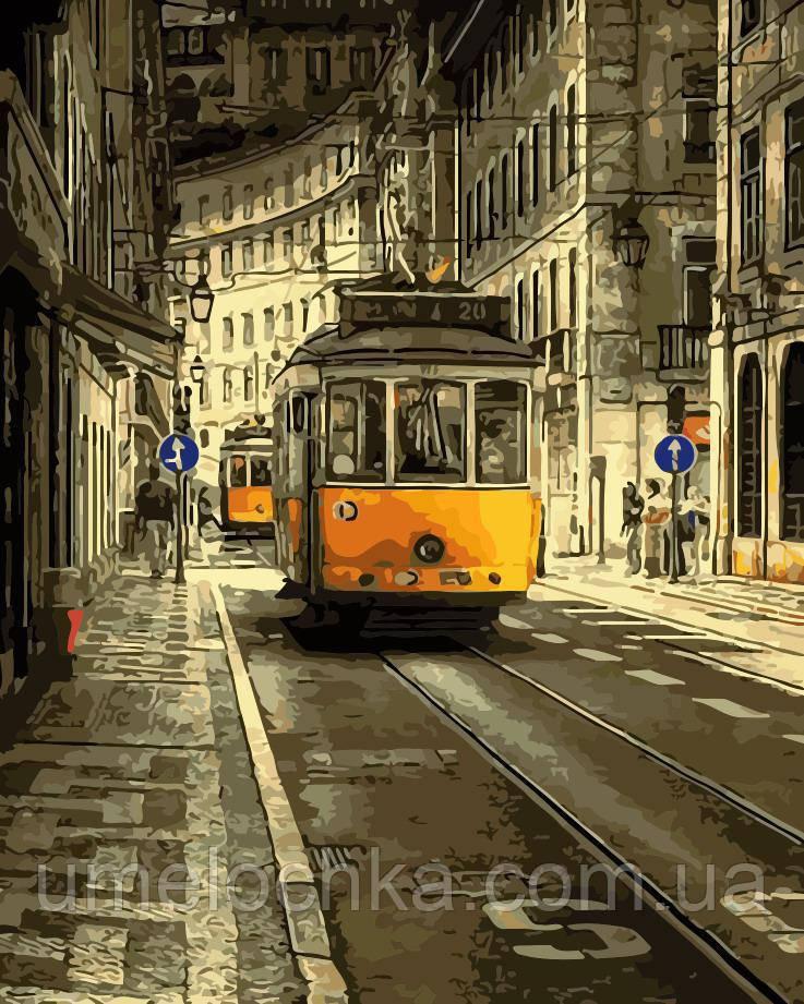 Рисование по номерам Жёлтый трамвай (AS0132) 40 х 50 см ArtStory