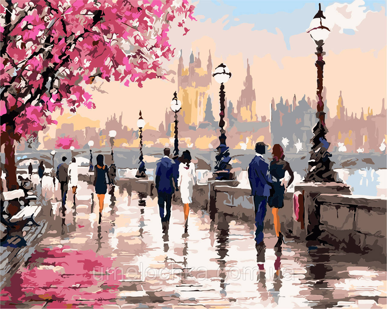 Холст для рисования Цветущая набережная (AS0135) 40 х 50 см ArtStory