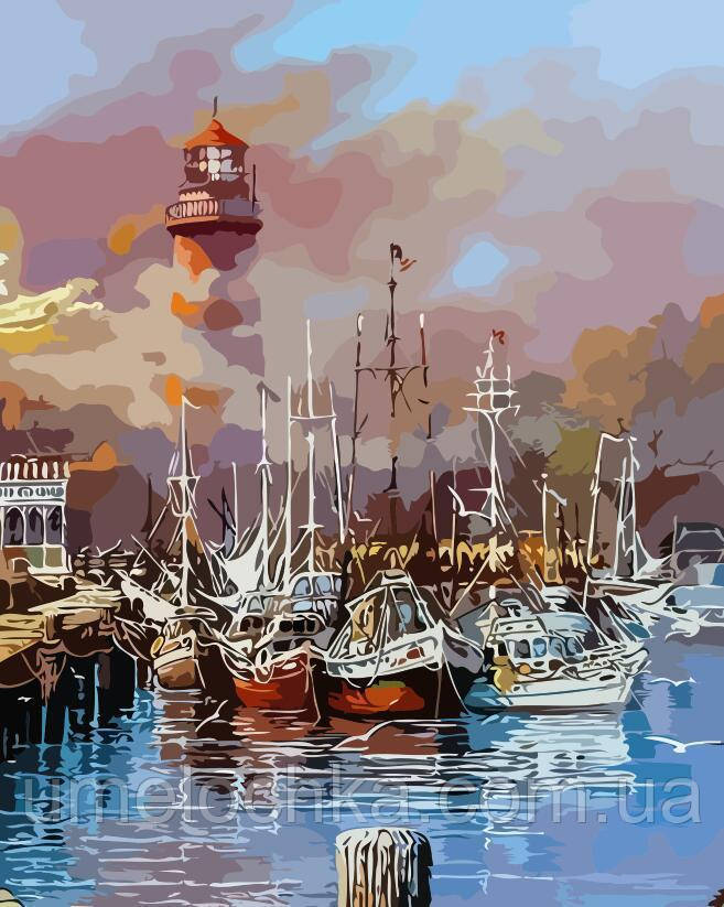 Живопись по номерам Утро на лодочном пирсе (AS0136) 40 х 50 см ArtStory