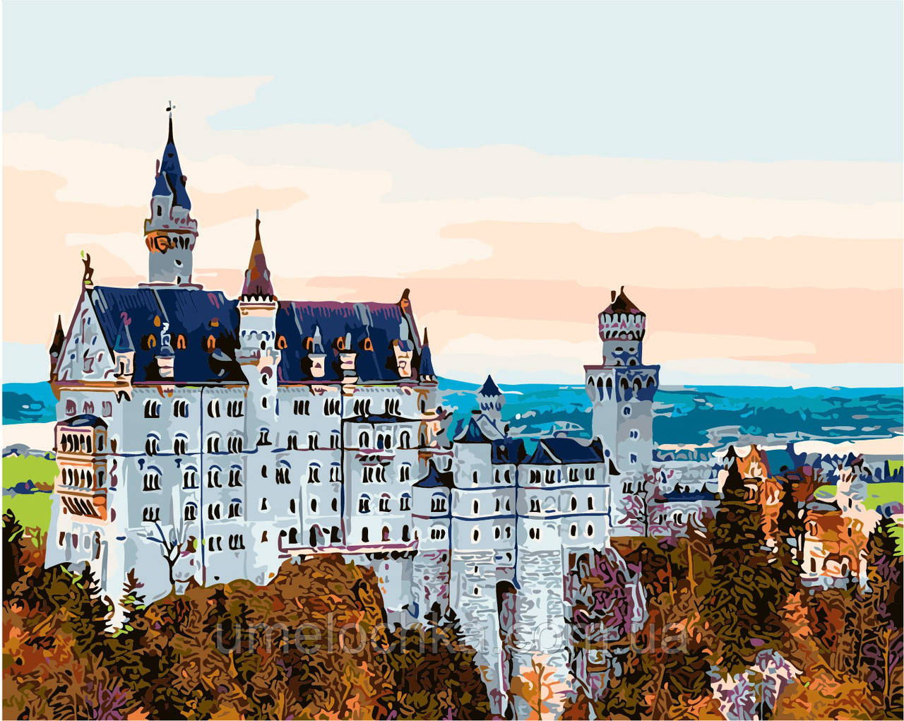 Картина по номерам Осень в Баварии (AS0139) 40 х 50 см ArtStory
