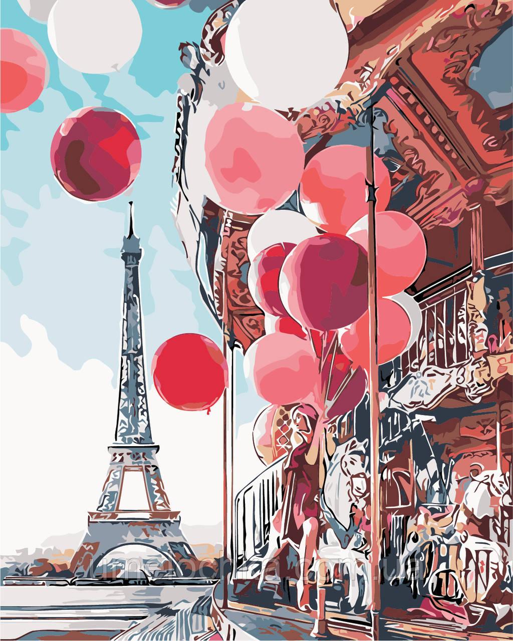 Картина по номерам Парижская сказка (AS0148) 40 х 50 см ArtStory