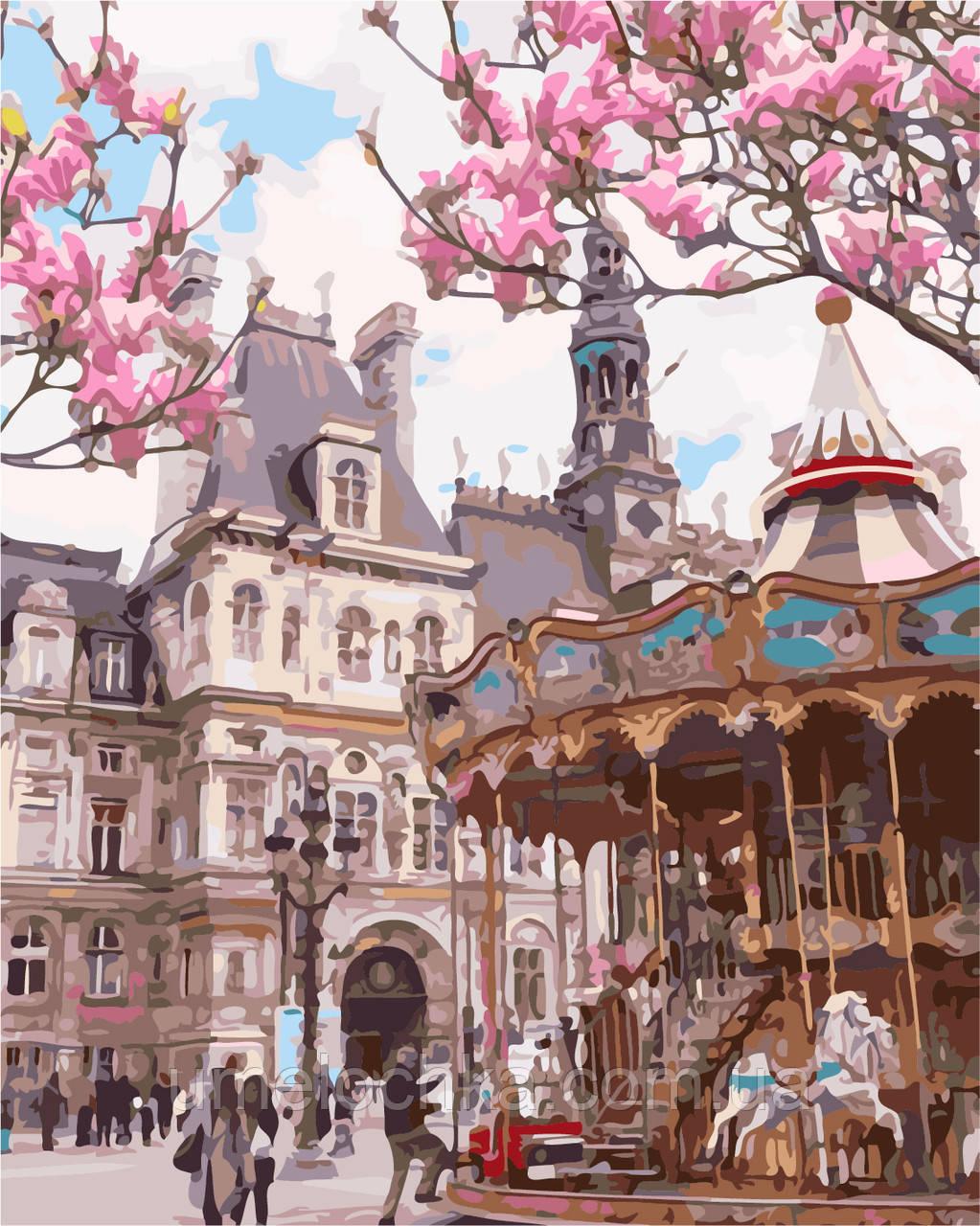 Картина по номерам Париж Отель-де-Виль (AS0147) 40 х 50 см ArtStory