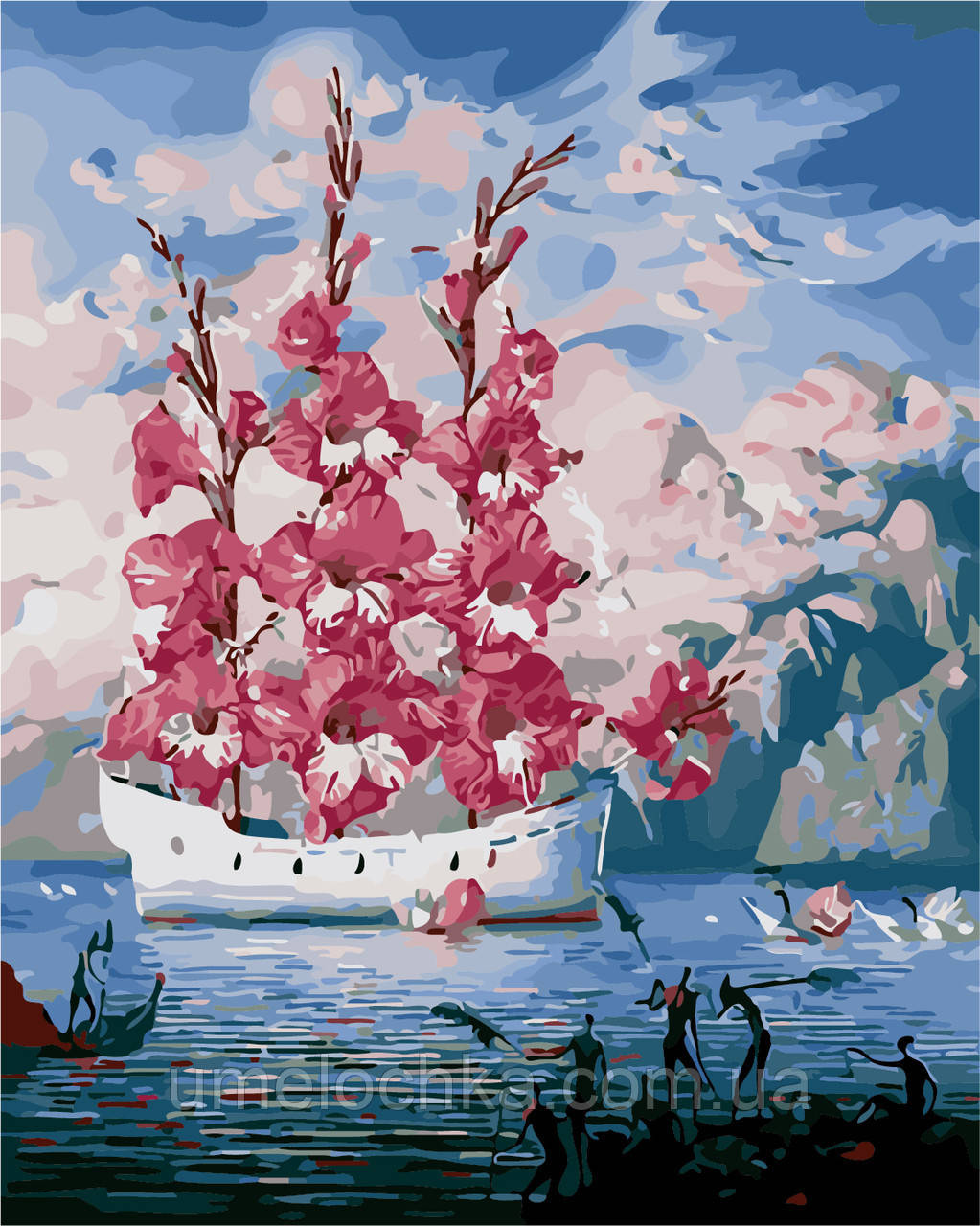 Раскраска для взрослых Цветочные паруса (AS0154) 40 х 50 см ArtStory